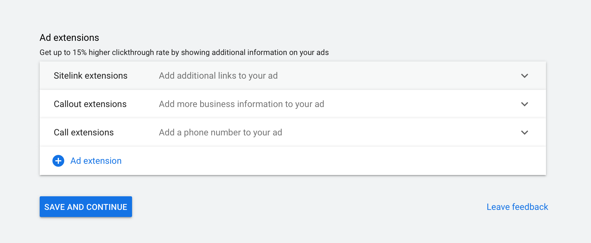 how to add Google extensions to your ads