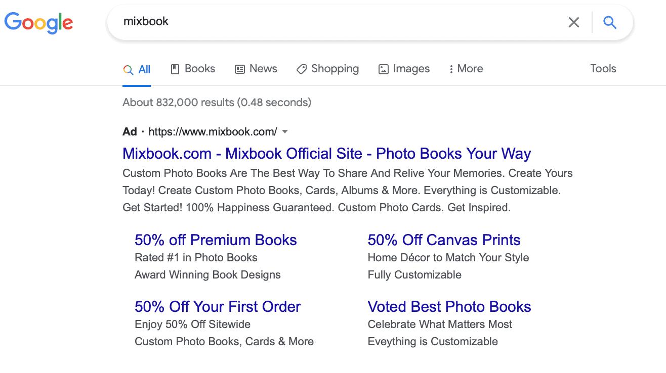 Google Ads branded ad