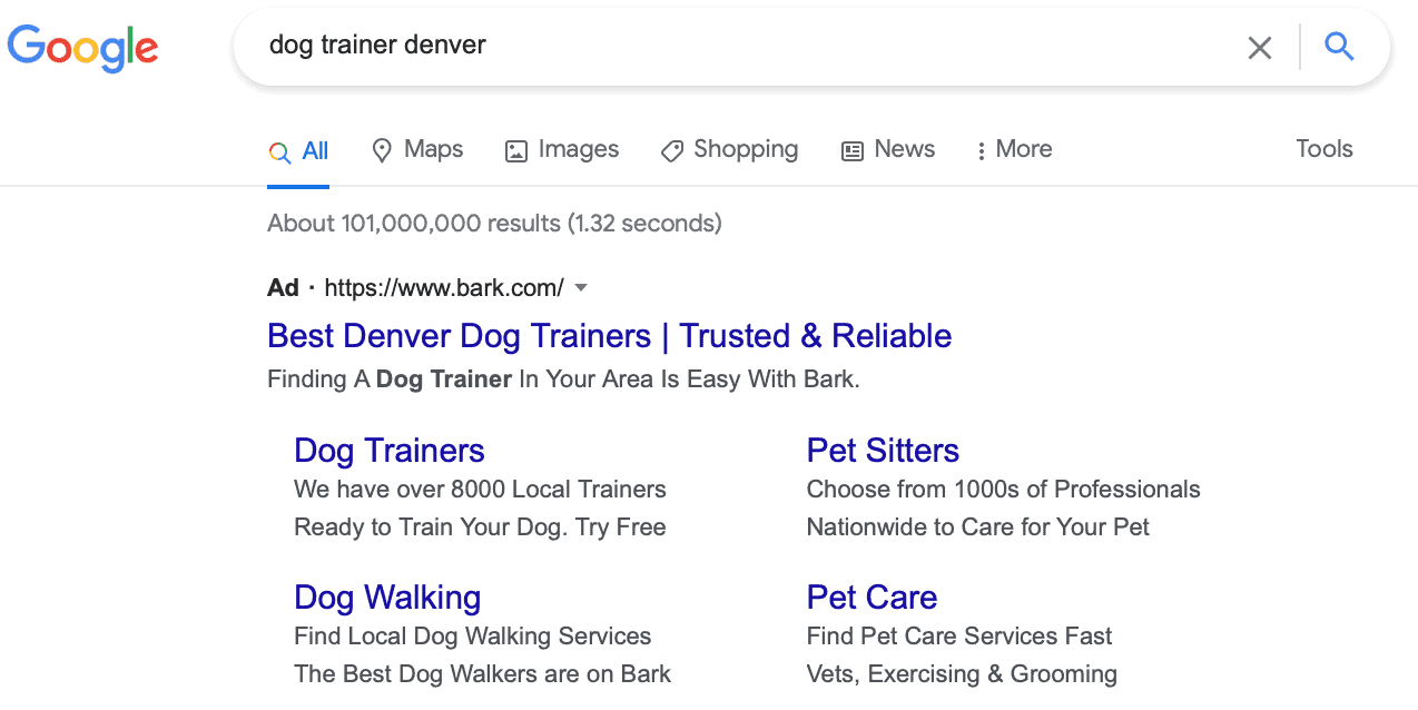 how to improve Google Ad results with keywords in copy